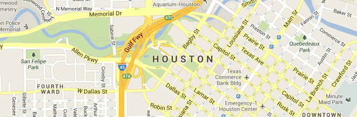 Map of Houston, TX Answering Service Coverage Area
